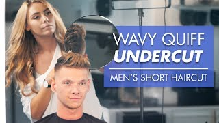 Mens Short Hair for Summer - Wavy Quiff Undercut 2019