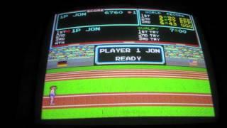 """Track /& Field 2x3/"""" fridge//locker magnet arcade marquee bezel screen art Konami"""