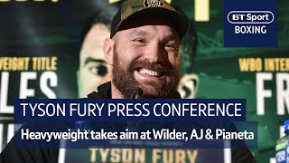Tyson Fury on top-form! Full press conference from Belfast ahead of Fury vs Pianeta