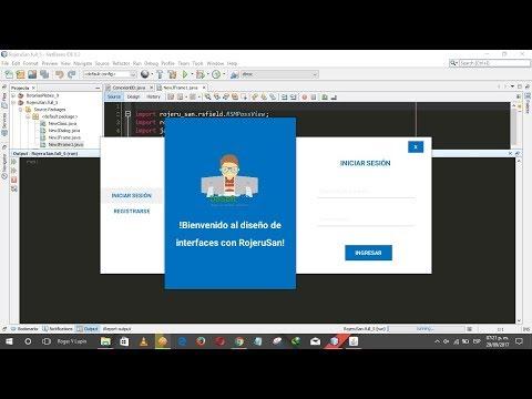 Diseño UI Login De Sesión y Registro Hecho En Java - Código Fuente