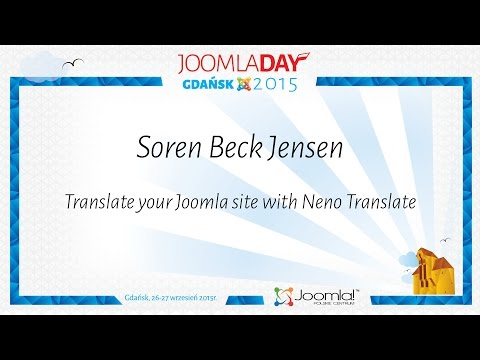 Soren Beck Jensen - Translate your Joomla site with Neno Translate