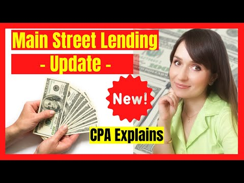 Main Street Lending Program Update | Small Business Loans During COVID | CPA EXPLAINS