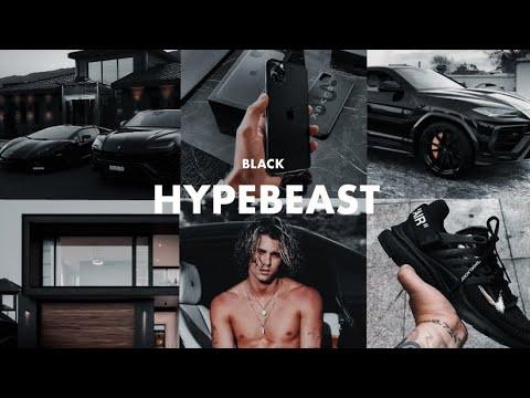 BLACK HYPEBEAST Presets - Lightroom Mobile Presets DNG Dark Black Mood