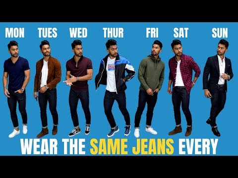 7 Ways to Wear The Same Pair of Jeans Everyday