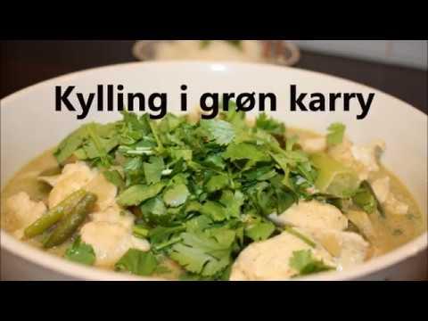 kylling i grøn karrypasta
