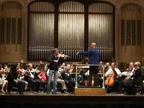 Eric Thomas Gratz rehearsing with the Cleveland Orchestra