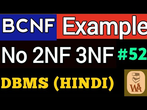 BCNF Example   bcnf decomposition example   BCNF in dbms in hindi ...