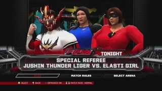 WIWA Wrestling Match #59: Jushin Liger vs Elasti Girl