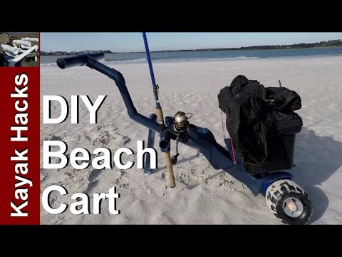 DIY Beach Fishing Cart For Surf Or Pier With Rod Holders And Tackle Box