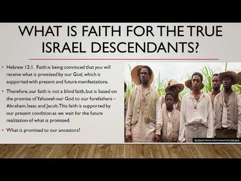 This is it! This is faith This is our faith. How to build your faith as an awakened Hebrew Israel.