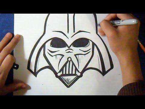 como desenhar mascara star wars youtube