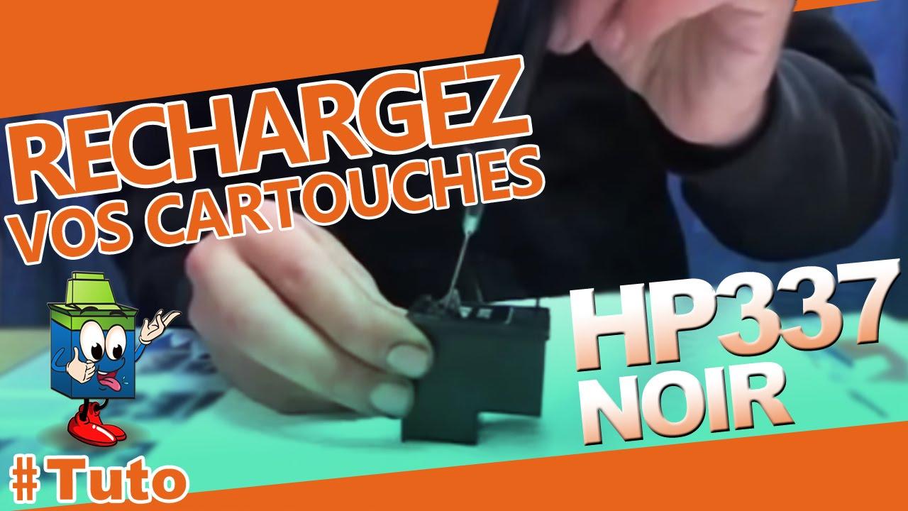 337 hp cartouche hp337 noire bien recharger la cartouche youtube. Black Bedroom Furniture Sets. Home Design Ideas