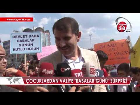 """VALİYE """"BABALAR GÜNÜ"""" SÜRPRİZİ"""