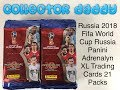 Russia 2018 Fifa World Cup Panini Adrenalyn XL trading cards 21 packs