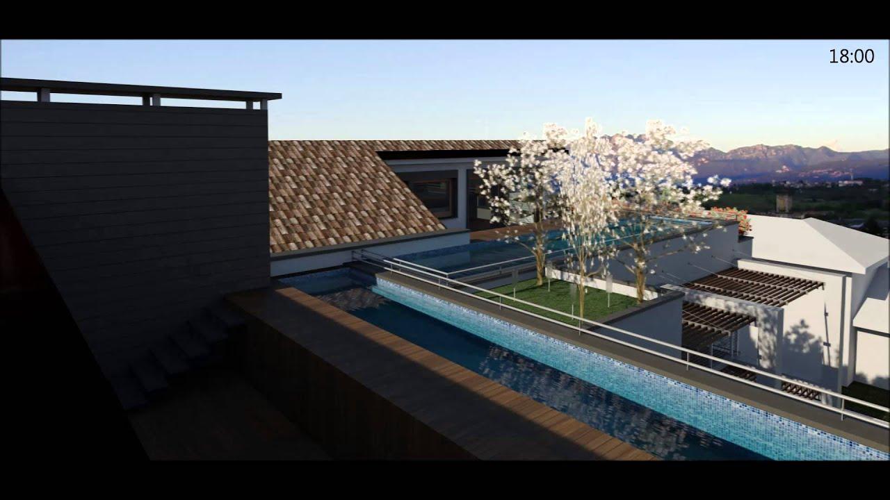 Attico con piscina carate brianza via monti 6 youtube - Attico con piscina ...