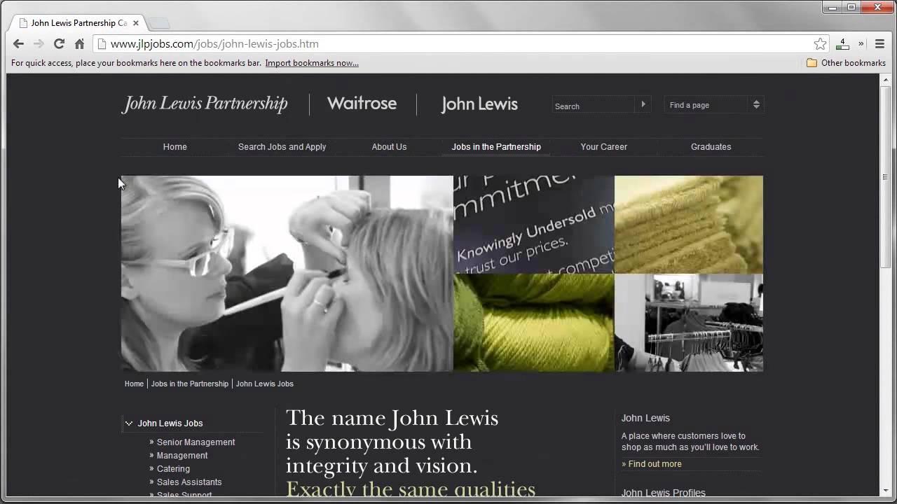 John Lewis Job Application