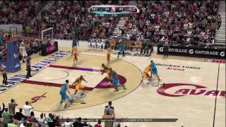 NBA 2K10 (Xbox 360) Gameplay: New Orleans Hornets vs. Cleveland Cavaliers
