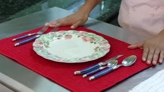 How To Set A Table With Silverware : Helpful Kitchen Tips