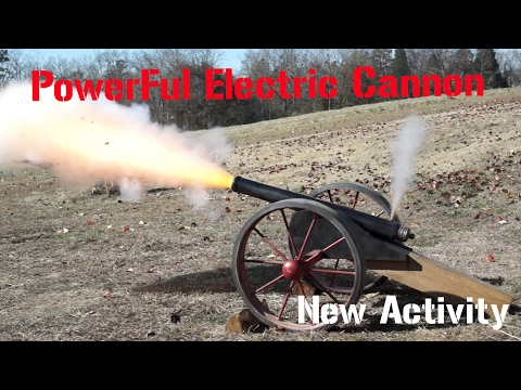 HOW TO MAKE  ELECTRIC CANNON
