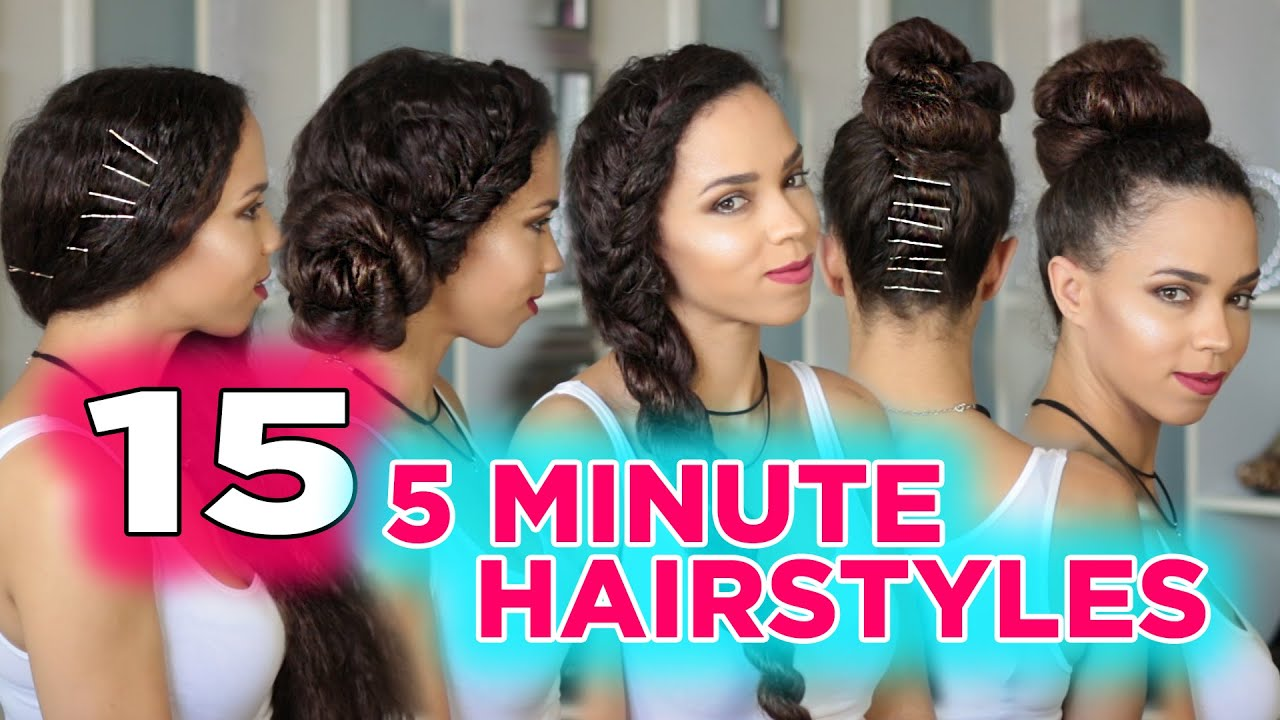 15 easy 5 minute hairstyles ! 5 minute heatless hairstyles - youtube