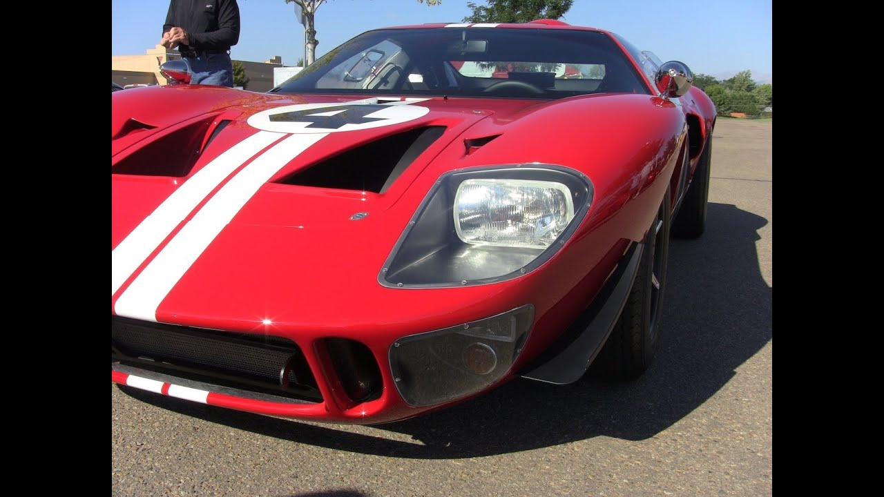 Coffee And Cars >> Classic Ferrari F40 & Ford GT40 revealed at Colorado Cars & Coffee (September 2012) - YouTube