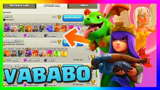 Clash of Clans QUEEN WALK VABABO With LEVEL 30 ARCHER QUEEN! Farming In Champions 2!