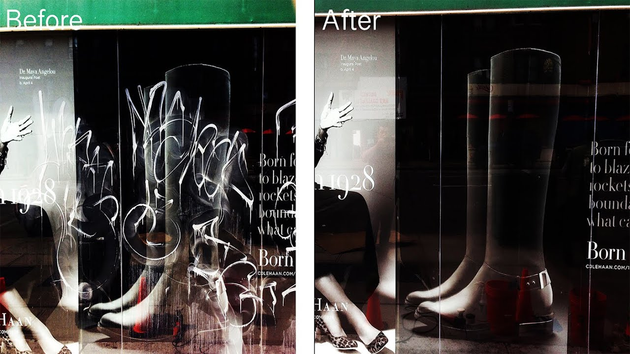 Car Glass Repair >> Window Glass Graffiti Removal, Glass Etching Repair, How ...