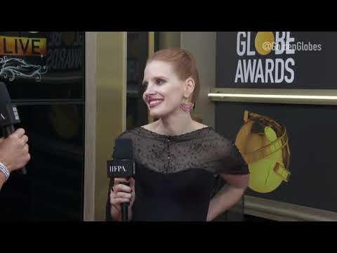 Jessica Chastain Red Carpet Interview - Golden Globes 2019