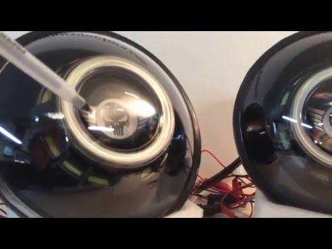 Custom lens etching - HIDprojectors BI-Xenon projectors Rockstar Garage Jeep Wrangler Headlights