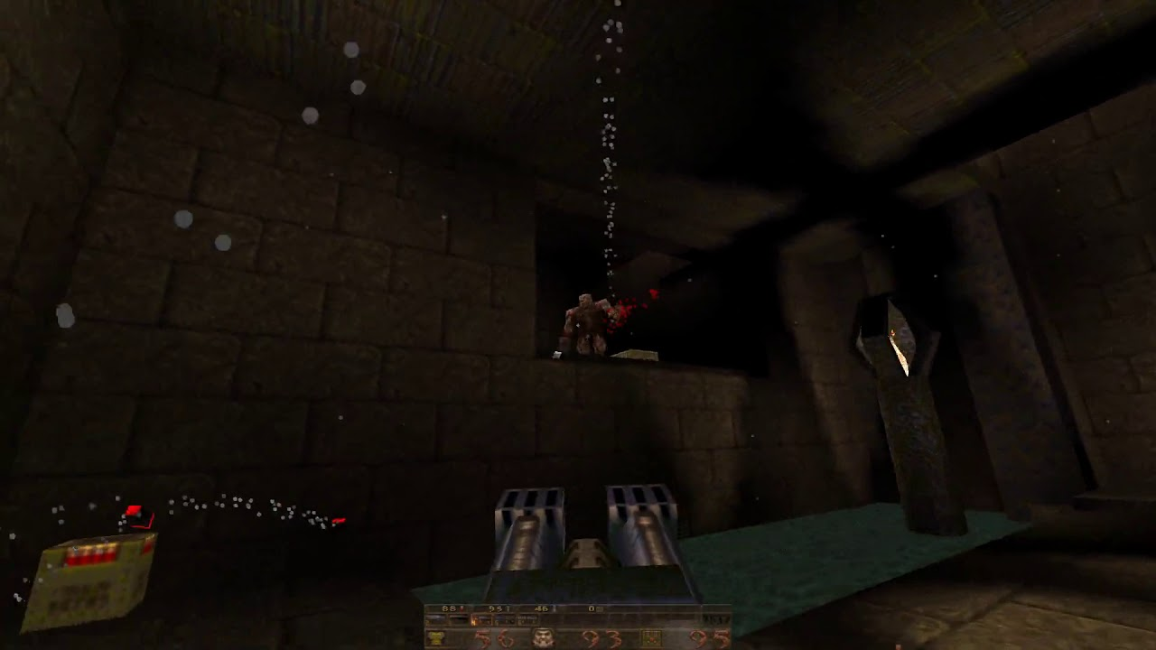 Playing Quake 1 in 2018 with Quakespasm and the original ambient soundtrack
