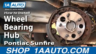How To Install Change Rear Wheel Bearing Hub Chevy Cavalier Pontiac Sunfire 1aauto.com