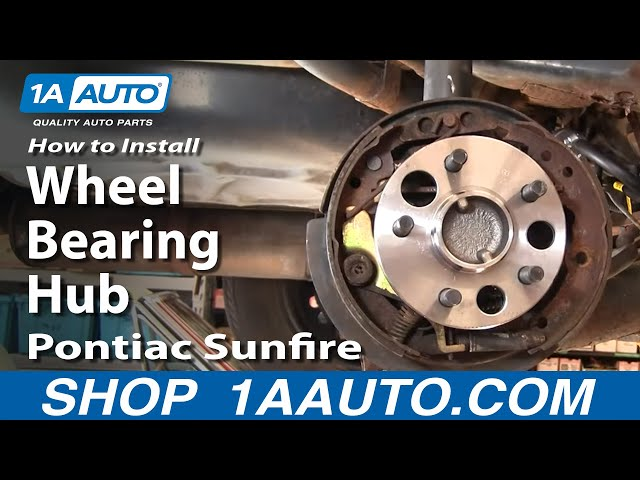 How To Replace Wheel Bearing Hub Assembly 95 05 Pontiac