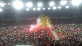 Чемпионство «Спартака»  перформанс, фанаты на поле, сломанные ворота, вручение кубка