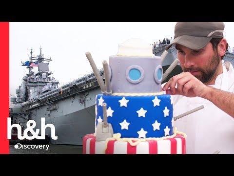 Un pastel homenaje a la marina de Estados Unidos| Cake Boss | Discovery H&H