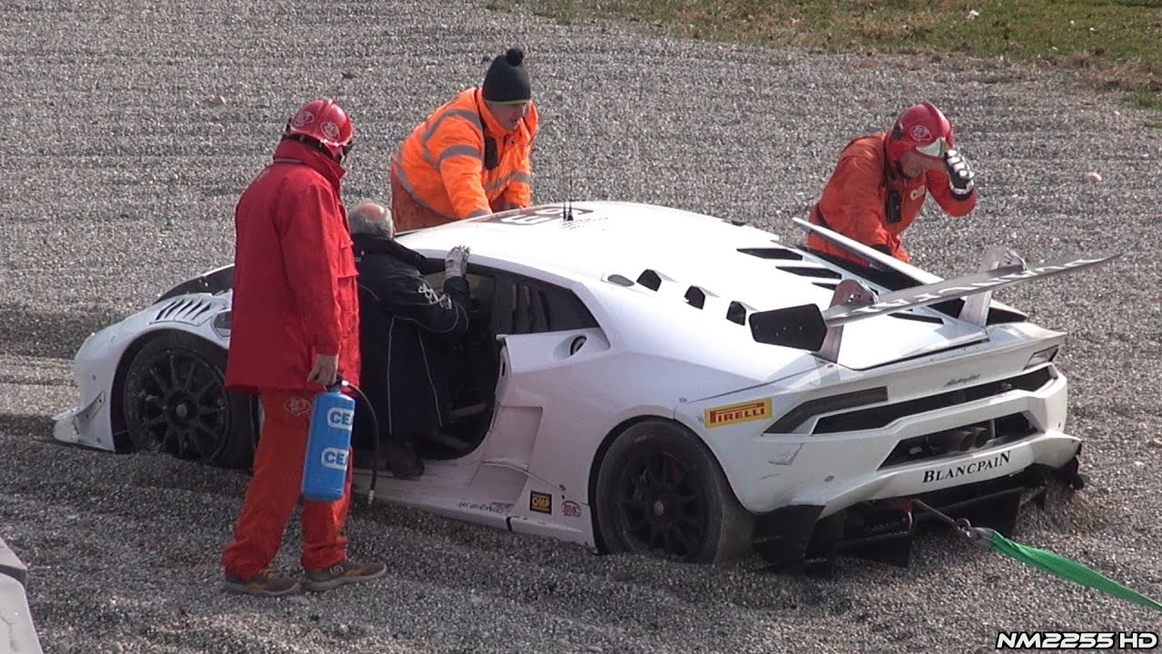 lamborghini hurac n supertrofeo crashes hard into wall at monza circuit youtube. Black Bedroom Furniture Sets. Home Design Ideas