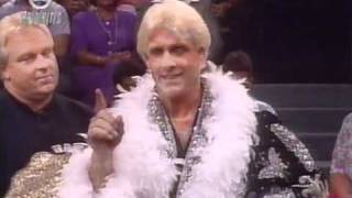 1991 09 09 Prime Time   Ric Flair's first WWF appearance prelude to SSeries