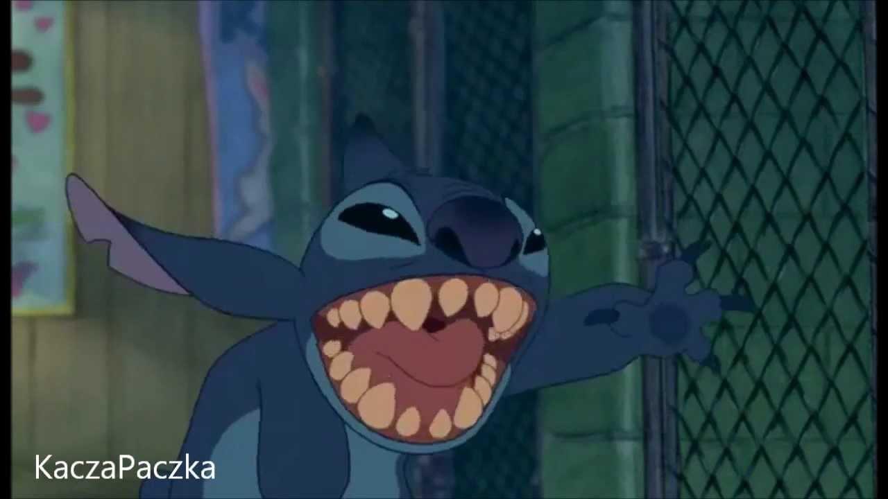 Stitch saying hi