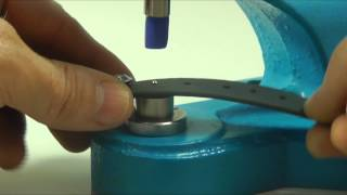 Hohlniete Niete Setzen verarbeiten mit Handpresse