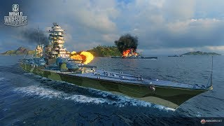 World of Warships  Ночной заход.