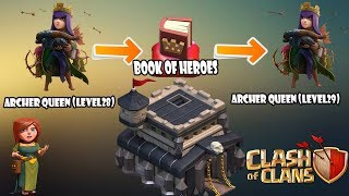 POWER OF BOOK OF HEROES! | GEM UP THE QUEEN AT LEVEL 29 |CLASH OF CLANS | GAMEPLAY!