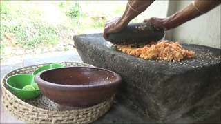 Village Food - Coconut Sambal prepared in my village by Grandma
