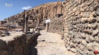 Təbriz yaxınlığında mağara-evlərdə yaşayan insanlar