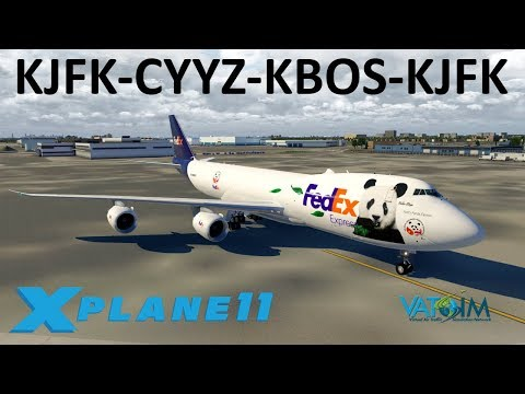 X-Plane 11 | A Day with the Queen of the skies!! | B748i | VATSIM | New York, Toronto & Boston!!