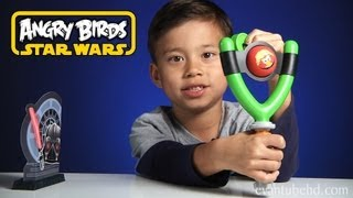 Angry Birds STAR WARS Jedi Slingshot Koosh Toy - TOTAL DESTRUCTION!