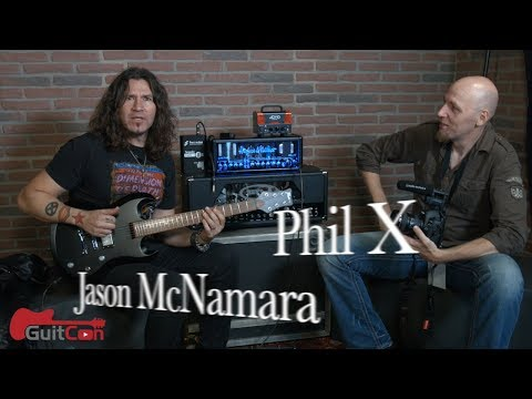 Jason McNamara hangs with Phil X (Bon Jovi) at GuitCon