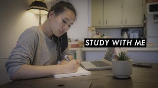STUDY WITH ME (with music) | a real time study session