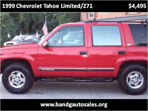 1999 chevrolet tahoe limited z71 used cars north. Black Bedroom Furniture Sets. Home Design Ideas