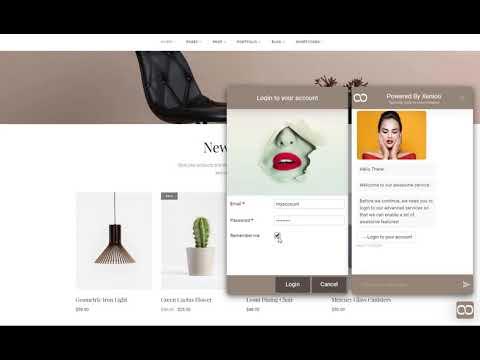 Xenioo Forms: Customer Login