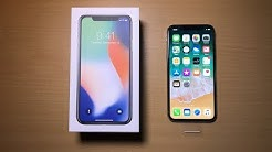 Unboxing the brand new iPhone X 64GB Silver!