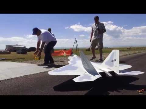 RC ADVENTURES - Want to fly one of these? Radio Controlled Turbine JET - F-22 RAPTOR
